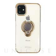 【iPhone12/12 Pro ケース】Electroplated Ring PC Case (ゴールド)