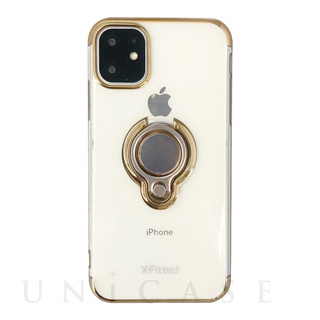 【iPhone12 Pro Max ケース】Electroplated Ring PC Case (ゴールド)