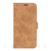 【iPhone12 Pro Max ケース】手帳型ケース Style Natural (Camel)
