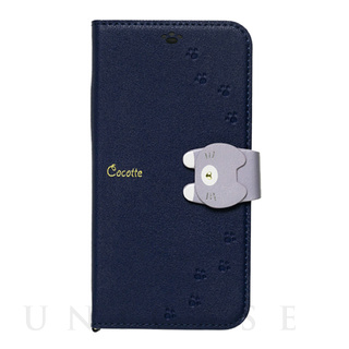 【iPhone12/12 Pro ケース】手帳型ケース Cocotte (Navy)