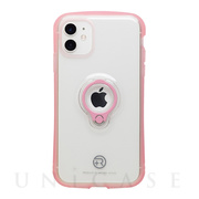 【iPhone12 mini ケース】フィンガーリング付衝撃吸収背面ケース +R (Clear Pink)