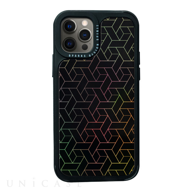 【iPhone12/12 Pro ケース】Twinkle cover (Black pattern)