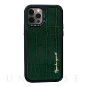 【iPhone12/12 Pro ケース】Leather Case (GREEN)