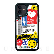 【iPhone12 mini ケース】Black Cover (TAG STICKER Warning)