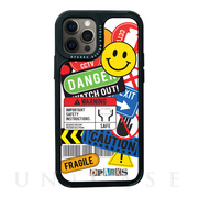 【iPhone12/12 Pro ケース】Black Cover (TAG STICKER caution)