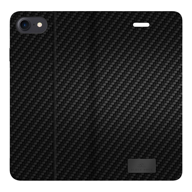 【iPhoneSE(第2世代)/8/7 ケース】Flex Carbon Booklet (Black)