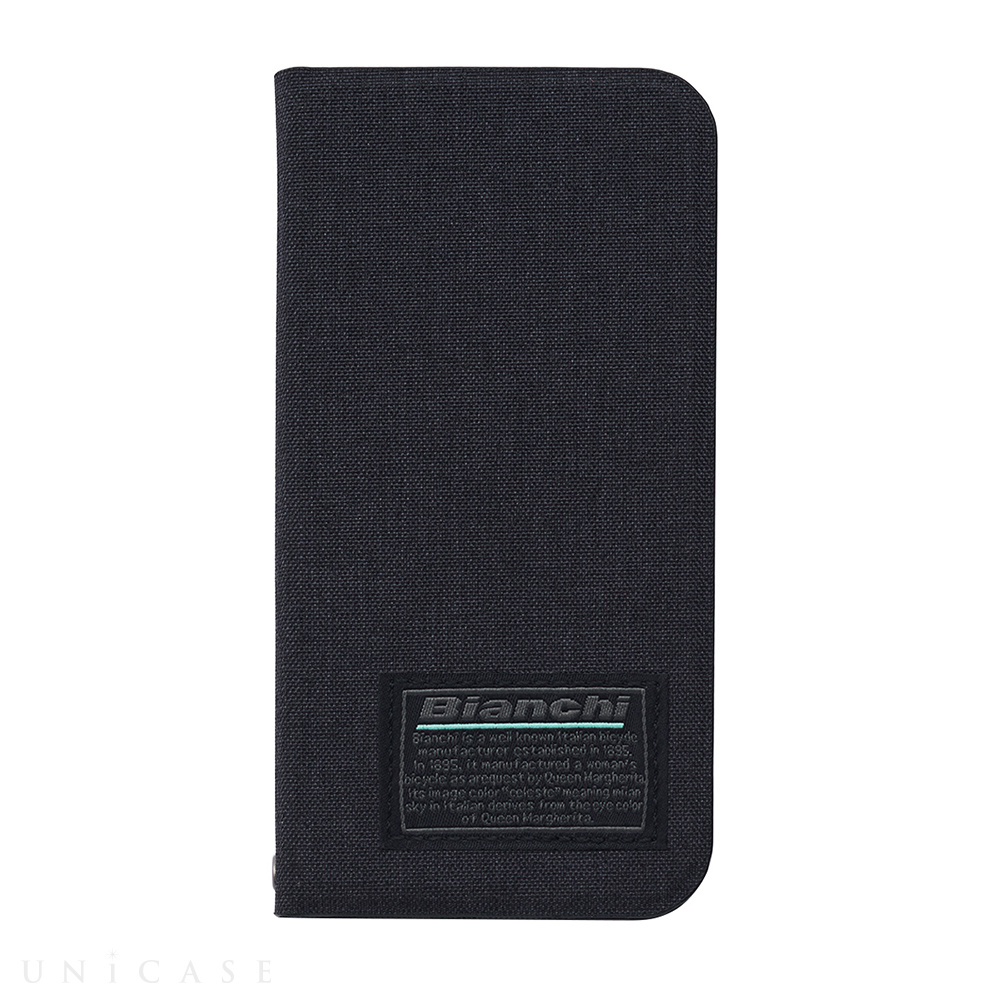 【iPhone12 mini ケース】Bianchi Water Repellent Folio Case for iPhone12 mini (black)