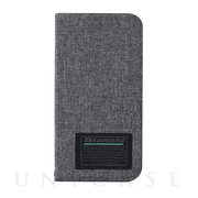 【iPhone12 mini ケース】Bianchi Water Repellent Folio Case for iPhone12 mini (gray)