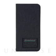 【iPhoneSE(第2世代)/8/7/6s/6 ケース】Bianchi Water Repellent Folio Case for iPhoneSE(第2世代) (black)