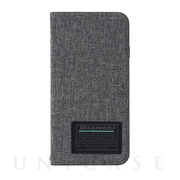 【iPhoneSE(第2世代)/8/7/6s/6 ケース】Bianchi Water Repellent Folio Case for iPhoneSE(第2世代) (gray)