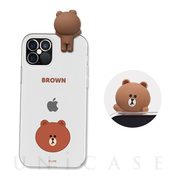 【iPhone12/12 Pro ケース】Figure BASIC CLEAR SOFT (FACE BROWN)