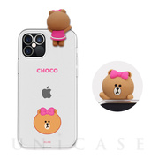 【iPhone12/12 Pro ケース】Figure BASIC CLEAR SOFT (FACE CHOCO)