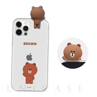 【iPhone12 Pro Max ケース】Figure BASIC CLEAR SOFT (GREETING BROWN)