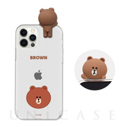 【iPhone12 Pro Max ケース】Figure BASIC CLEAR SOFT (FACE BROWN)