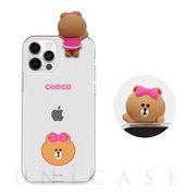 【iPhone12 Pro Max ケース】Figure BASIC CLEAR SOFT (FACE CHOCO)