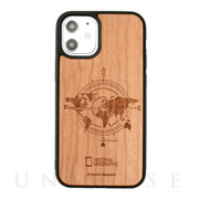 【iPhone12 mini ケース】Nature Wood Carving Case (Compass)