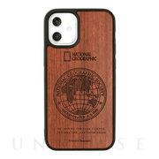 【iPhone12 mini ケース】Nature Wood Carving Case (Rosewood)