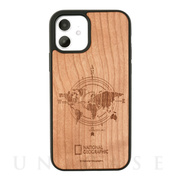 【iPhone12/12 Pro ケース】Nature Wood Carving Case (Compass)