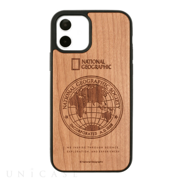 【iPhone12/12 Pro ケース】Nature Wood Carving Case (Cherrywood)