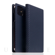 【iPhone12 mini ケース】Carbon Leather Case (Navy)