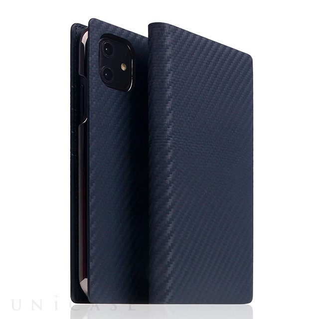 【iPhone12/12 Pro ケース】Carbon Leather Case (Navy)