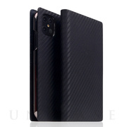 【iPhone12 Pro Max ケース】Carbon Leather Case (Black)