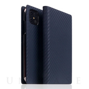 【iPhone12 Pro Max ケース】Carbon Leather Case (Navy)