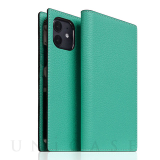 【iPhone12 mini ケース】Edition Full Grain Leather Flip Case (Teal)