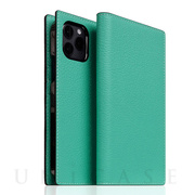 【iPhone12/12 Pro ケース】Edition Full Grain Leather Flip Case (Teal)
