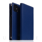【iPhone12 mini ケース】Full Grain Leather Case (Navy Blue)
