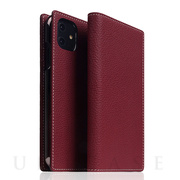 【iPhone12/12 Pro ケース】Full Grain Leather Case (Burgundy Rose)