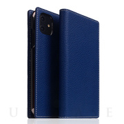 【iPhone12/12 Pro ケース】Full Grain Leather Case (Navy Blue)