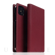 【iPhone12 Pro Max ケース】Full Grain Leather Case (Burgundy Rose)