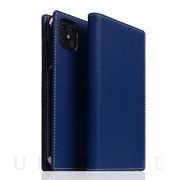 【iPhone12 Pro Max ケース】Full Grain Leather Case (Navy Blue)
