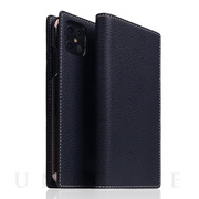 【iPhone12 Pro Max ケース】Full Grain Leather Case (Black Blue)