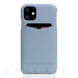 【iPhone12/12 Pro ケース】Full Grain Leather Back Case (Powder Blue)