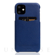 【iPhone12/12 Pro ケース】Full Grain Leather Back Case (Navy Blue)