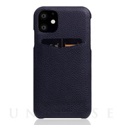 【iPhone12/12 Pro ケース】Full Grain Leather Back Case (Black Blue)