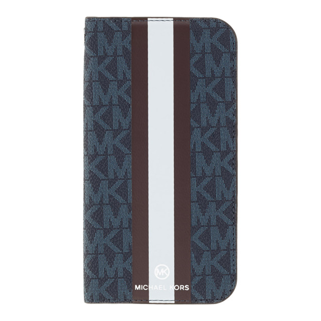 【iPhoneSE(第2世代)/8/7 ケース】FOLIO CASE STRIPE with TASSEL CHARM (Admiral/Dark Brown)サブ画像