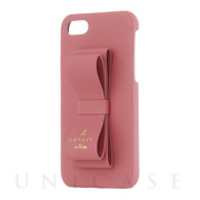 【iPhoneSE(第2世代)/8/7 ケース】SLIM WRAP CASE STAND & RING RIBBON (Coral Pink)