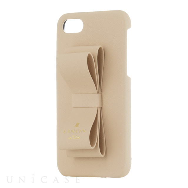 【iPhoneSE(第2世代)/8/7 ケース】SLIM WRAP CASE STAND & RING RIBBON (Beige)
