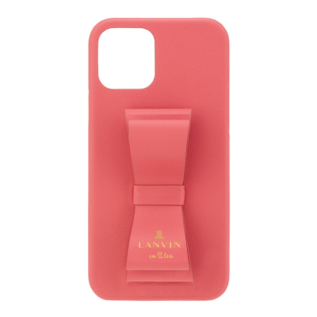 【iPhone12/12 Pro ケース】SLIM WRAP CASE STAND & RING RIBBON (Coral Pink)サブ画像