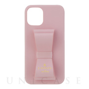 【iPhone12 mini ケース】SLIM WRAP CASE STAND & RING RIBBON (Sakura Pink)