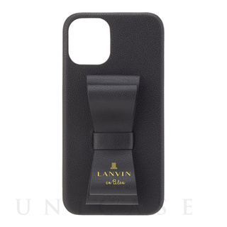 【iPhone12 mini ケース】SLIM WRAP CASE STAND & RING RIBBON (Black)