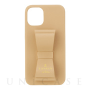 【iPhone12 mini ケース】SLIM WRAP CASE STAND & RING RIBBON (Beige)