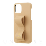 【iPhone12/12 Pro ケース】SLIM WRAP CASE STAND & RING RIBBON (Beige)