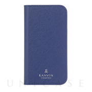 【iPhoneSE(第2世代)/8/7 ケース】FOLIO CASE SAFFIANO (Navy)
