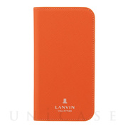 【iPhoneSE(第2世代)/8/7 ケース】FOLIO CASE SAFFIANO (Orange)