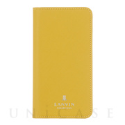 【iPhoneSE(第2世代)/8/7 ケース】FOLIO CASE SAFFIANO (Yellow)