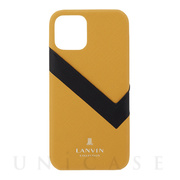 【iPhone12/12 Pro ケース】SLIM WRAP CASE SAFFIANO WRAP (Yellow)